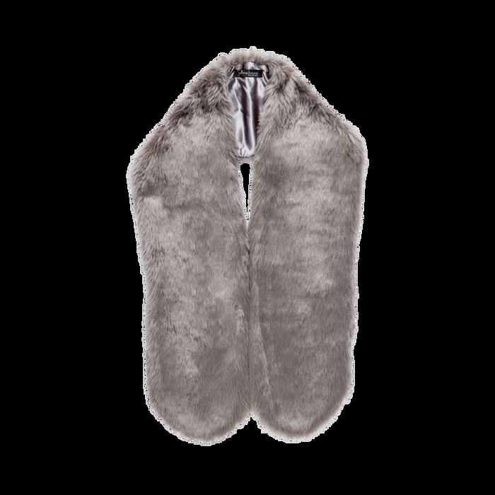 Coprispalla in eco-pelliccia grigia, Saldi, 12B414001FUGRIGUNI