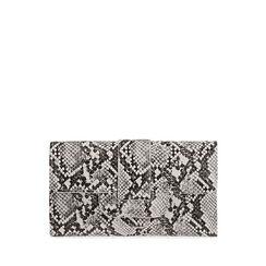 Portafogli bianco/nero stampa pitone , Primadonna, 175102538PTBINEUNI, 001a