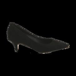 Décolleté nere in microfibra, tacco 5,50 cm , Primadonna, 162187131MFNERO035, 001 preview