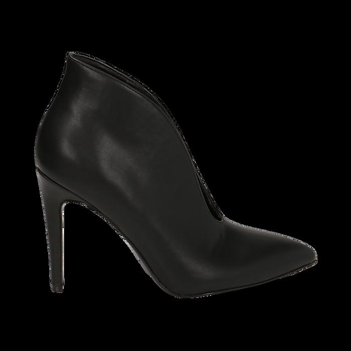 Ankle boots neri, tacco 10,50 cm , Primadonna, 162123746EPNERO036