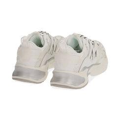 Baskets blanches / argentées, CHAUSSURES, 17E900045EPBIAR035, 004 preview