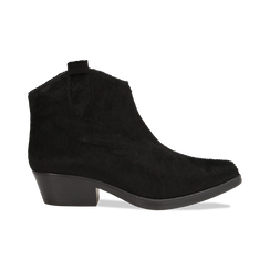 Stivaletti camperos neri in cavallino, tacco 4,5 cm, Primadonna, 12A403988CVNERO036, 001 preview