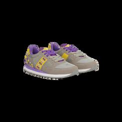 Sneakers grigie color block, Primadonna, 122618834MFGRIG035, 002