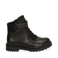 Botas militares en color negro, Primadonna, 160685307EPNERO035, 001a