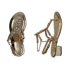WOMEN SHOES SANDAL LAMINATED OROG, PROMOTIONS, 154927101LMOROG036, 003 preview