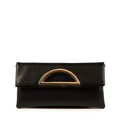 Pochette noir en simili-cuir, Sacs, 155108717EPNEROUNI, 001a