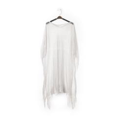 Poncho argento in tessuto laminato , Abbigliamento, 13B445079LMARGEUNI, 001 preview