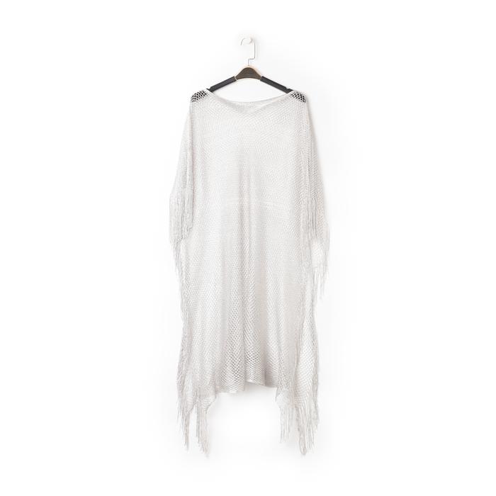 Poncho argento in tessuto laminato , Abbigliamento, 13B445079LMARGEUNI