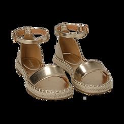 Sandali oro laminato, Scarpe, 154913061LMOROG, 002 preview