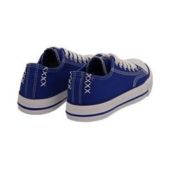 Sneakers blu in canvas, Scarpe, 137300862CABLUE036, 004 preview