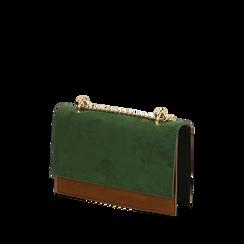 Borsa piccola verde in microfibra, IDEE REGALO, 165123006MFVERDUNI, 002a