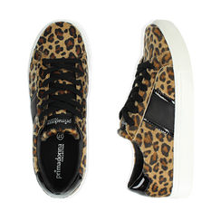 Sneakers leopard marroni in eco-pelle, Scarpe, 142619071CVLEMA036, 003 preview