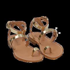 Sandali oro laminato, Primadonna, 158100570LMOROG036, 002a
