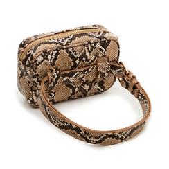 Marsupio beige in eco-pelle effetto snake skin, Borse, 133322210PTBEIGUNI, 003 preview