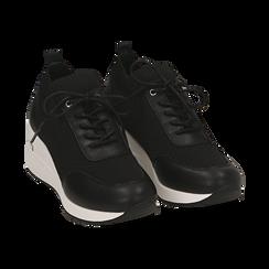 Sneakers nere in tessuto, Primadonna, 157516567TSNERO037, 002 preview