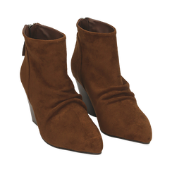 Ankle boots marroni in microfibra, tacco 7,50 cm , Primadonna, 160598311MFMARR035, 002 preview