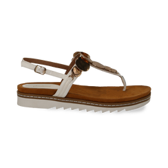 Sandali infradito bianchi in eco-pelle con suola bianca, Primadonna, 134922304EPBIAN035, 001 preview