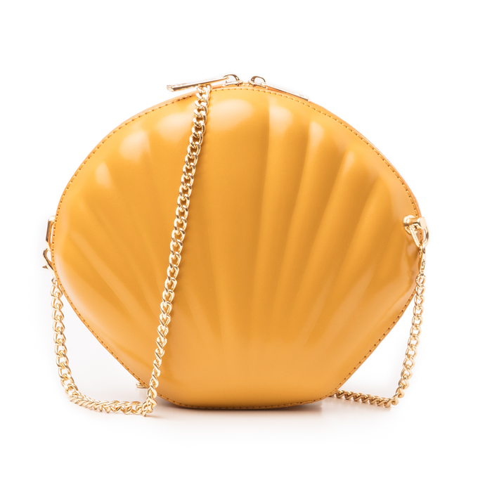 Borsetta conchiglia gialla in eco-pelle, Primadonna, 14C814006EPGIALUNI