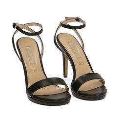 Sandali neri, tacco 10,50 cm , 172127401EPNERO037, 002a