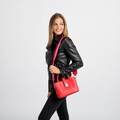 Mini bag rossa in ecopelle con tracolla a bandoliera, Primadonna, 122429139EPROSSUNI, 006 preview