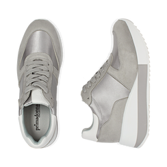 Dad Shoes en satin gris, Chaussures, 152821511RSGRIG036, 003 preview