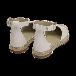 Espadrillas bianche in eco-pelle con cinturino, Primadonna, 154905188EPBIAN035, 004 preview