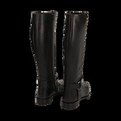 Stivali con borchie neri in pelle, Scarpe, 146208902PENERO036, 003 preview