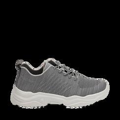 Sneakers grigie in tessuto , Primadonna, 159701163TSGRIG036, 001a