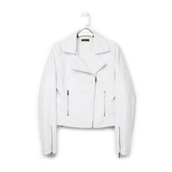 Biker jacket bianca in eco-pelle, Primadonna, 136501161EPBIANL, 001a