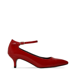 Décolleté rosse kitten heels in vernice, tacco 3 cm, Primadonna, 124951721VEROSS036, 001a