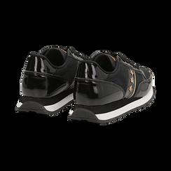 Sneakers nere in vernice, Scarpe, 142619079VENERO, 004 preview