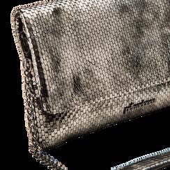 """Pochette grigia canna di fucile in laminato, effetto """"serpente"""", Borse, 122900003LMCANNUNI, 004 preview"""