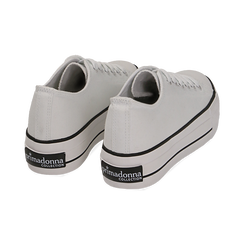 Sneakers bianche in canvas, Primadonna, 152619385CABIAN039, 004 preview