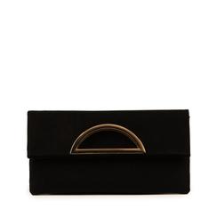 Pochette estensibile nera in microfibra, Borse, 155108717MFNEROUNI, 001a