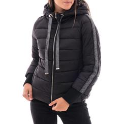 Piumino nero in nylon, Abbigliamento, 146501163NYNERO3XL, 001 preview