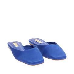 Sabot blu in raso, Primadonna, 174980111RSBLUE035, 002a