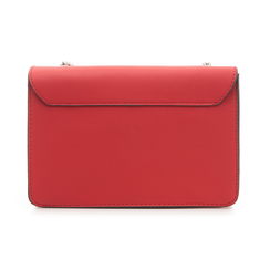Tracollina piccola rossa in eco-pelle con chiusura tripla, Borse, 132300507EPROSSUNI, 003 preview