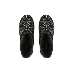 Scarponcini invernali neri con mini borchie, Scarpe, 12A880115MFNERO, 004 preview