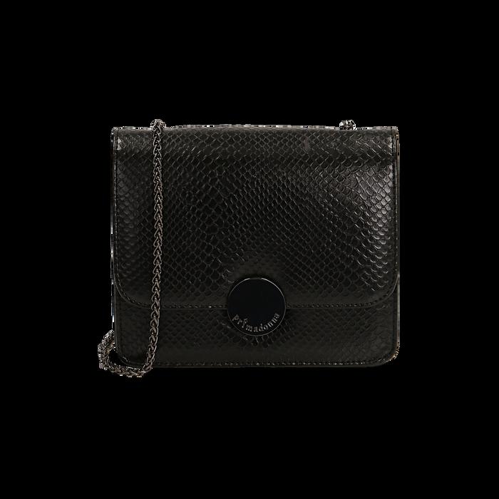 Petit sac noir imprimé vipère, Primadonna, 165108225EVNEROUNI