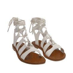 Sandalias gladiador blancas, 175248103EPBIAN035, 002a