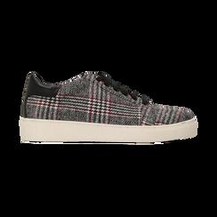 Sneakers Tweed con tacco basso, Scarpe, 122915602TSNEGR, 001 preview