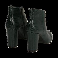 Ankle boots verdi stampa vipera, tacco 9 cm , Primadonna, 164916101EVVERD035, 004 preview