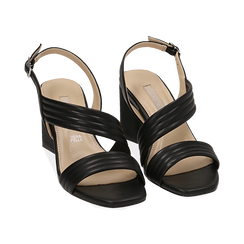 WOMEN SHOES SANDAL ECO-LEATHER NERO, PROMOTIONS, 152117607EPNERO036, 002 preview