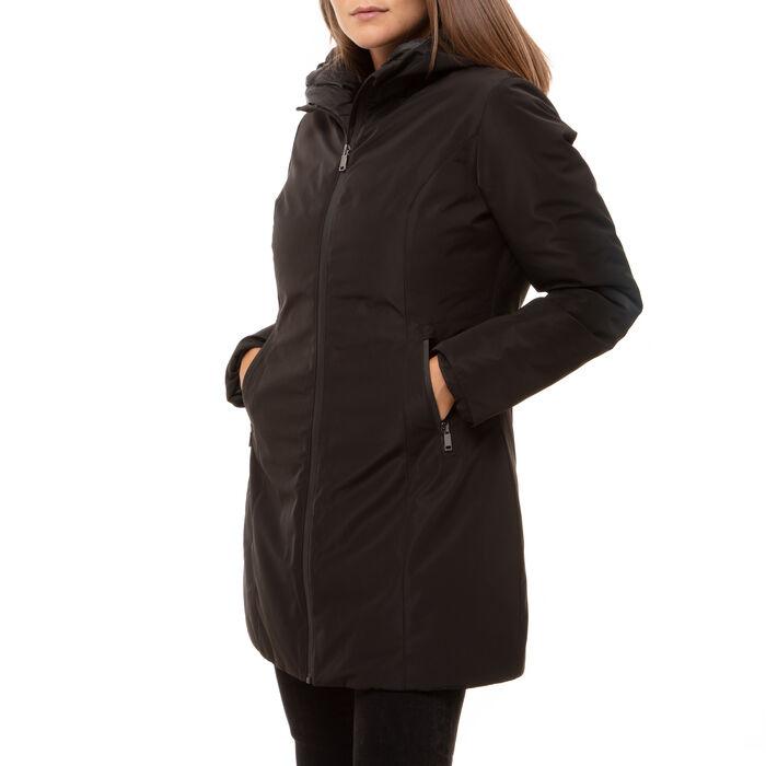 Parka acolchado negro con capucha en nylon, Primadonna, 168500572NYNEROL