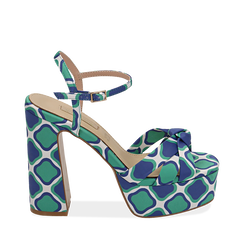 CALZATURA SANDALO RASO VERD, Chaussures, 152133401RSVERD036, 001a