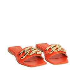 Zapatillas de piel naranja, Primadonna, 17L602031PEARAN035, 002a