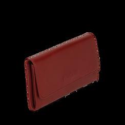 Portafogli bordeaux in eco-pelle, Borse, 143732330EPBORDUNI, 002a