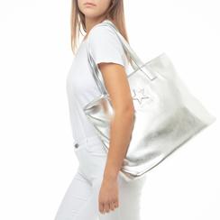 Maxi bag argento in laminato , Primadonna, 133764104LMARGEUNI, 002 preview