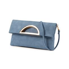 Pochette estensibile azzurra in microfibra, Borse, 155108717MFAZZUUNI, 004 preview