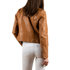Biker jacket cuoio, Special Price, 156501128EPCUOIS, 002a
